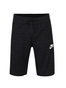 Čierne melírované pánske slim fit teplákové kraťasy Nike Sportwear Advance 15