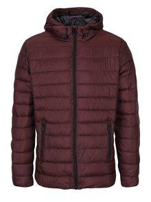 Jachetă matlasată vișinie cu glugă pentru toamnă - iarnă  - ONLY & SONS Eddi