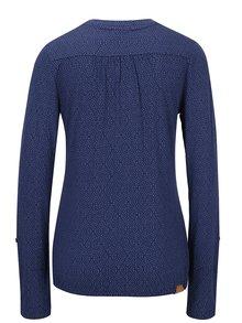 Modré bodkované tričko s dlhým rukávom Ragwear Pinch