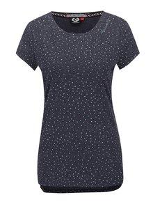 Sivé dámske vzorované tričko Ragwear Mint Hearts