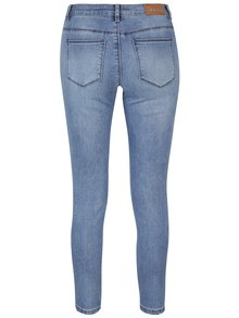 Modré slim džíny s kamínky na nohavicích ONLY Carmen