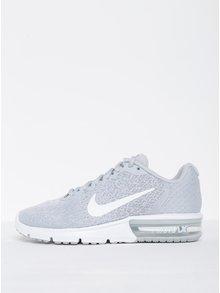 Světle šedé žíhané dámské tenisky Nike Air Max Sequent 2