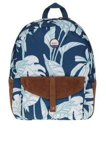 Krémovo-petrolejový batoh s motívom listov Roxy Carribean