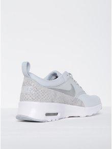 Svetlosivé dámske kožené tenisky so štruktúrovanými detailmi Nike Air Max