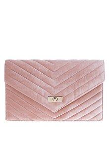 Ružová zamatová listová kabelka Dorothy Perkins