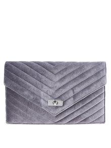 Sivá zamatová listová kabelka Dorothy Perkins