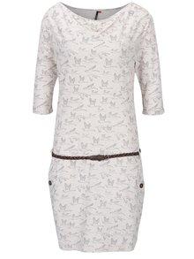 Béžové vzorované šaty s opaskom Ragwear Tanya
