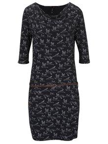 Rochie neagră din bumbac cu imprimeu Ragwear Tanya