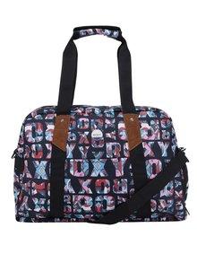 Čierna športová taška s potlačou Roxy Sugar It Up