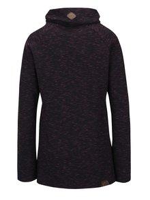 Bluză sport neagră cu guler înalt Ragwear Denise