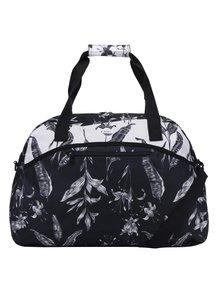 Bielo-čierna kvetovaná cestovná taška Roxy Too Far
