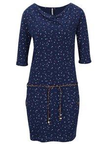 Rochie albastră din bumbac organic cu imprimeu Ragwear Tanya Organic