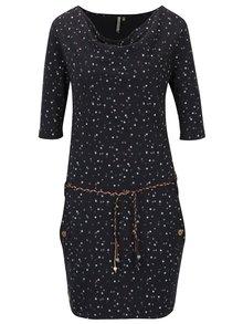 Rochie neagră din bumbac organic cu imprimeu Ragwear Tanya Organic