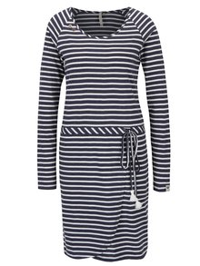 Tmavě modré pruhované šaty Ragwear Glitter Organic