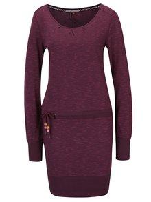 Rochie violet melanj cu cordon și mâneci lungi  Ragwear Alexa A