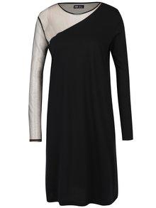 Čierne voľné šaty s priesvitnými detailmi Cheap Monday Claim