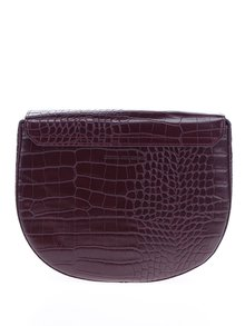 Geantă crossbody roșu bordo cu model reptilă  French Connection Magda