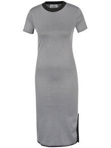 Šedé přiléhavé šaty s rozparkem Cheap Monday Excess