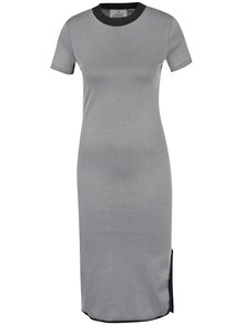 Sivé priliehavé šaty s rázporkom Cheap Monday Excess