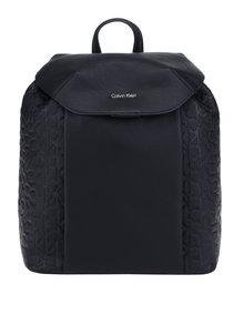 Černý dámský batoh se strukturovanými detaily Calvin Klein Jeans Misha