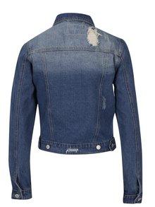 Modrá džínová bunda s potrhaným efektem Haily's Olivia