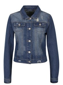 Jachetă din denim albastru cu efect uzat - Haily´s Olivia