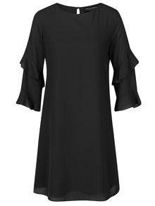 Čierne šaty s volánmi na rukávoch Dorothy Perkins