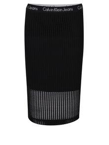 Černá perforovaná sukně Calvin Klein Jeans Kallie