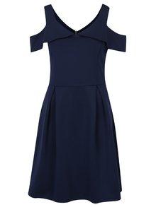 Tmavomodré šaty s prestrihmi na ramenách Dorothy Perkins