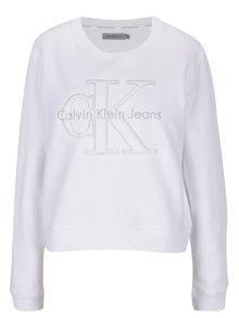 Bílá dámská mikina s výšivkou Calvin Klein Jeans Harper