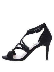 Čierne remienkové sandálky v semišovej úprave Dorothy Perkins