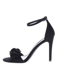Čierne sandálky s mašľou v semišovej úprave Dorothy Perkins