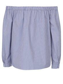 Bluză în dungi cu decolteu pe umeri și nasturi Dorothy Perkins