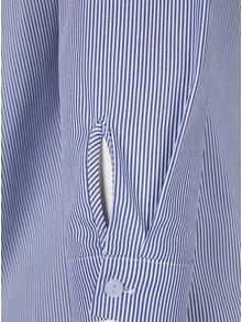 Bluza in dungi cu decolteu pe umeri si nasturi Dorothy Perkins