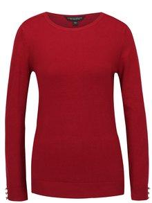 Vínový sveter s gombíkmi na rukávoch Dorothy Perkins