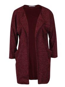 Vínový žíhaný cardigan s kapsami Haily´s Liliam
