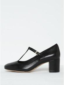 Pantofi negri din piele naturală și baretă - Clarks Orabella Fern
