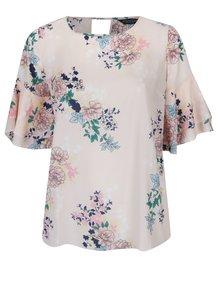 Bluză lejeră cu print floral Dorothy Perkins Curve