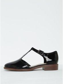 Sandale negre din piele lăcuită -  Clarks Taylor Palm