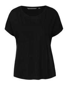 Tricou negru cu mâneci raglan Garcia Jeans