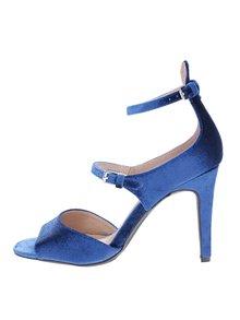 Modré zamatové sandálky Dorothy Perkins