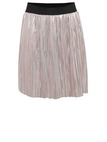 Světle růžová holčičí lesklá plisovaná sukně Blue Seven