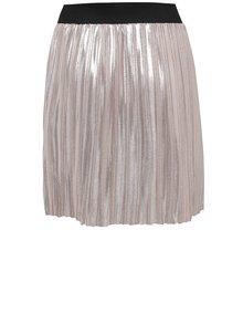 Svetloružová dievčenská lesklá plisovaná sukňa Blue Seven