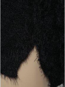 Čierny dievčenský sveter s prestrihmi na ramenách Blue Seven