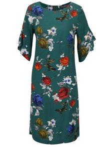 Rochie midi verde cu print floral și mâneci cu volane Dorothy Perkins Tall