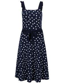 Rochie cloș bleumarin cu buline Dorothy Perkins Tall