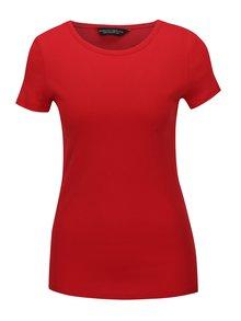 Červené basic tričko s krátkým rukávem Dorothy Perkins
