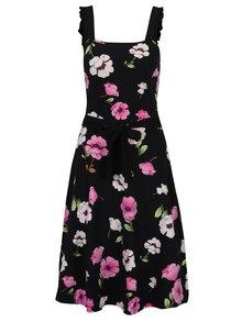 Rochie cloș neagră cu flori  Dorothy Perkins Tall