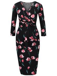 Rochie neagră cu imprimeu floral - Dorothy Perkins Maternity