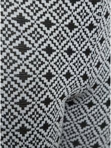 Čierno-biele dievčenské vzorované legíny Blue Seven